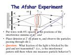 the afshar experiment