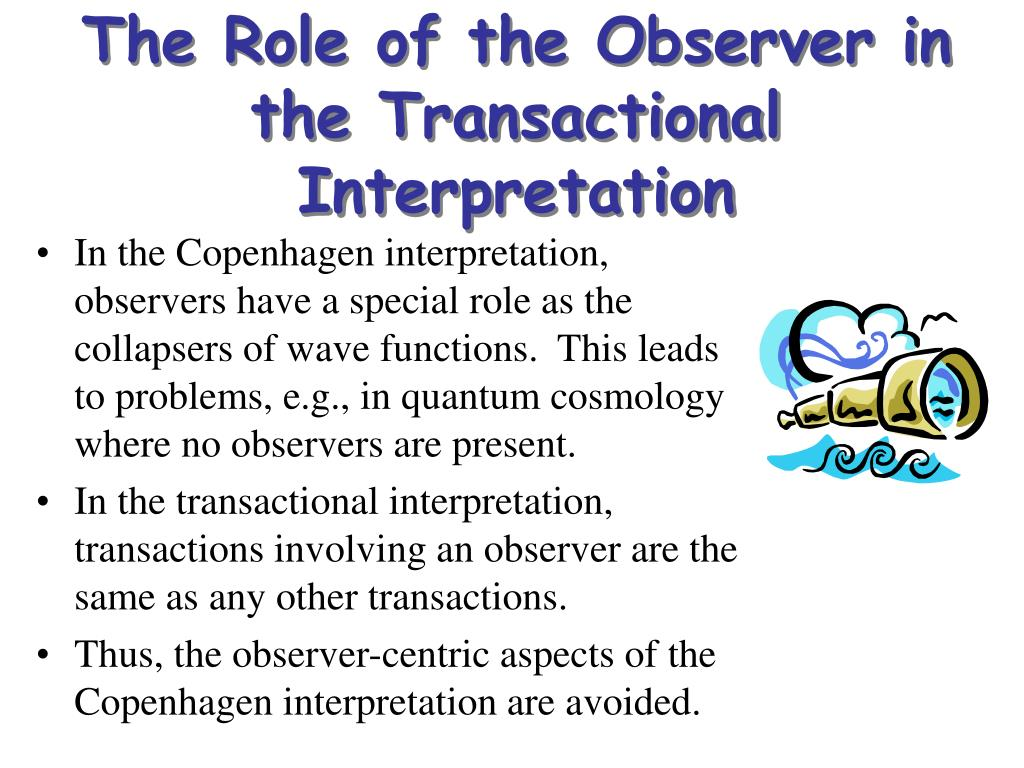 The Role of the Observer in