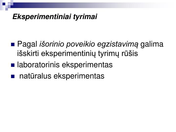 Eksperimentiniai tyrimai