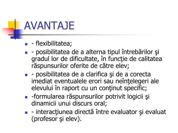 AVANTAJE