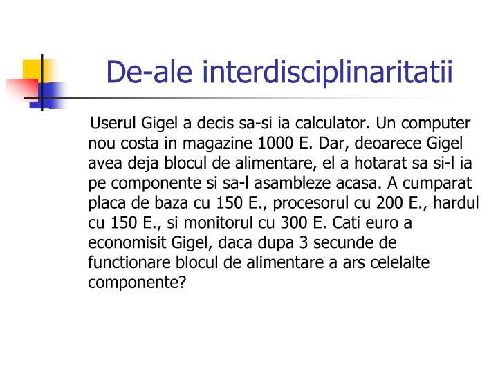 De-ale interdisciplinaritatii