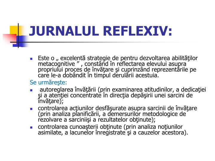 JURNALUL REFLEXIV:
