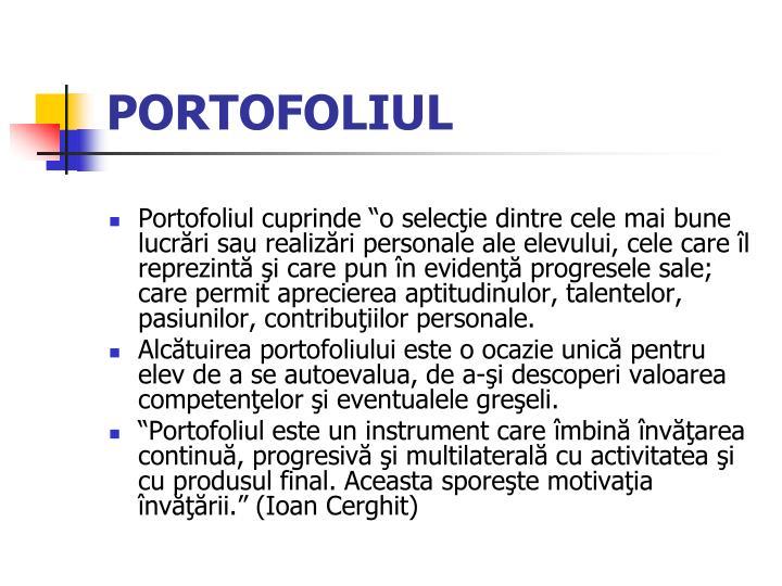 PORTOFOLIUL