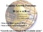 logistic growth function