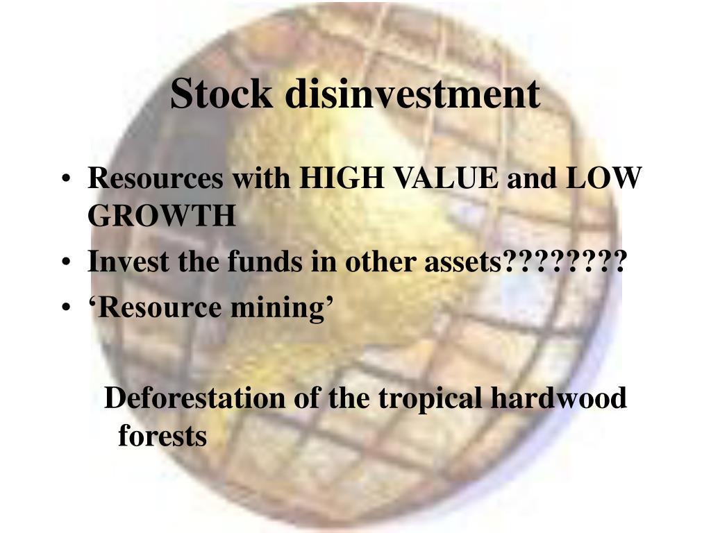 Stock disinvestment