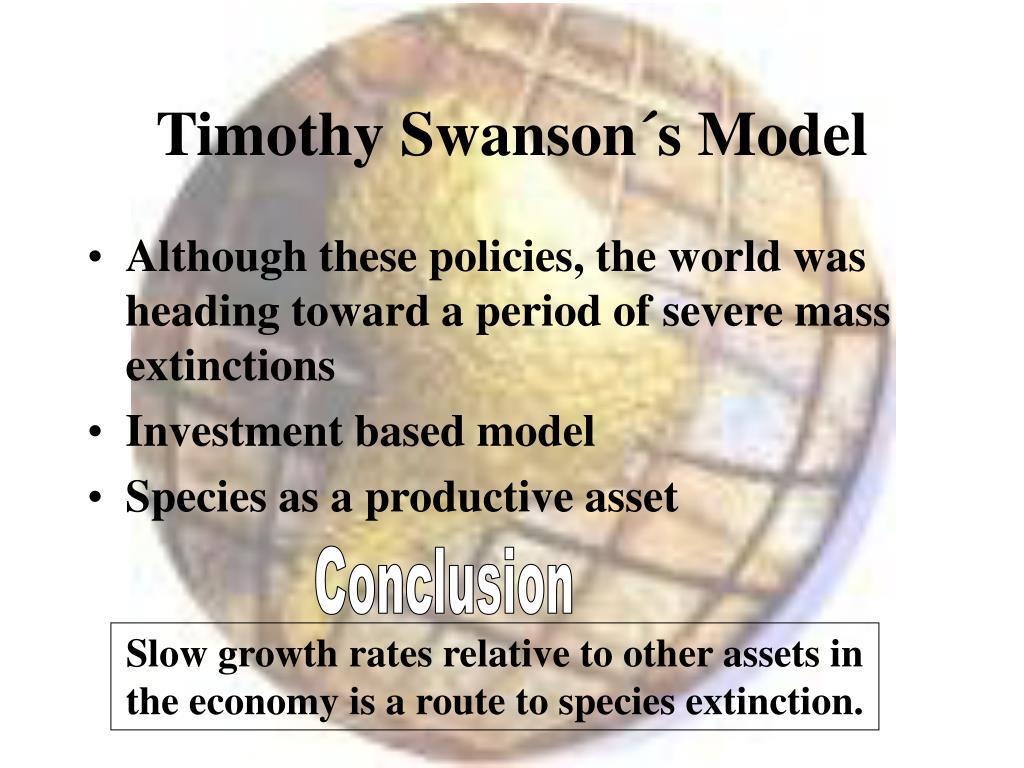 Timothy Swanson´s Model