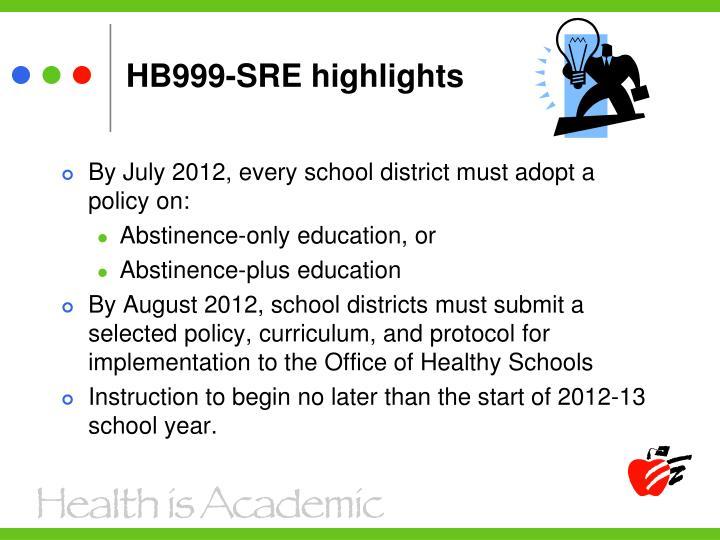 HB999-SRE highlights