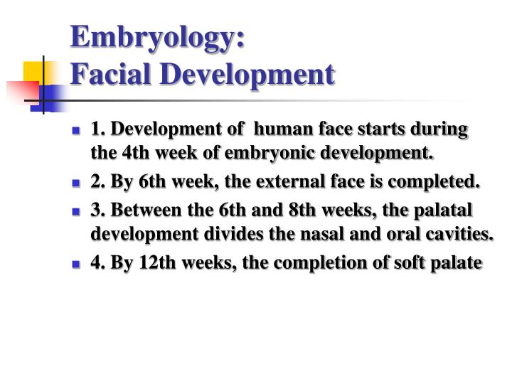 Embryology: