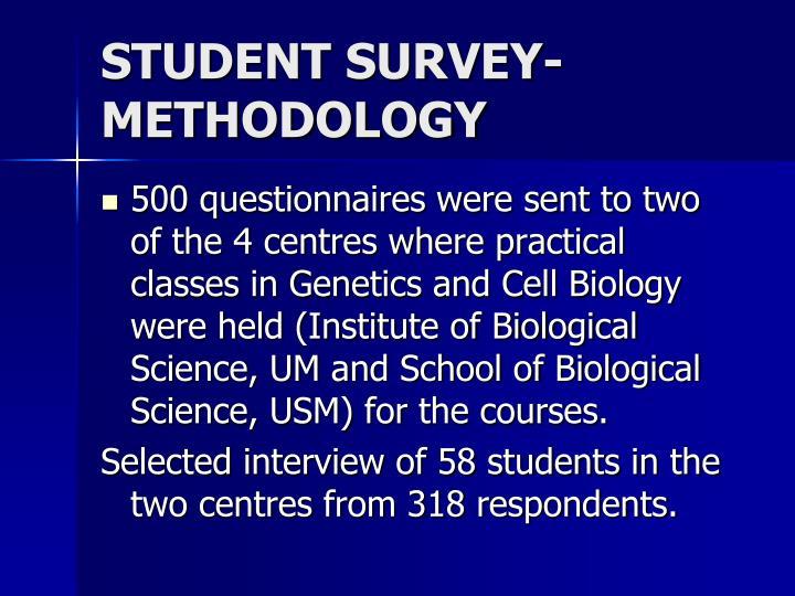 STUDENT SURVEY- METHODOLOGY