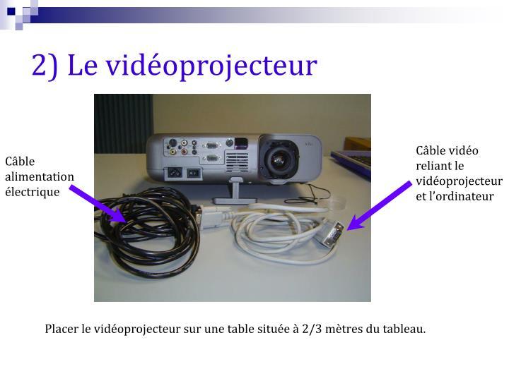 2) Le vidéoprojecteur