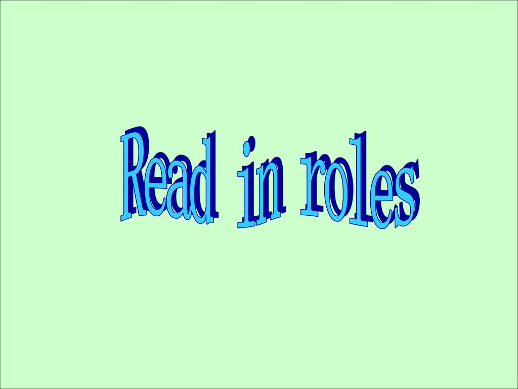 Read in roles