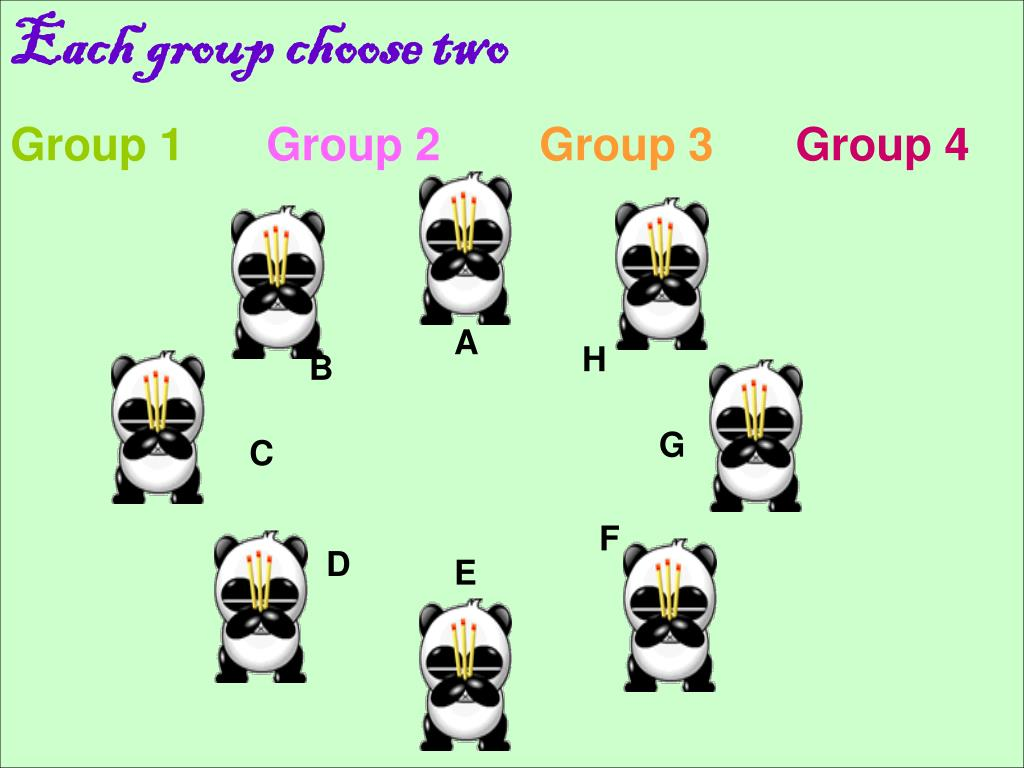Each group choose two