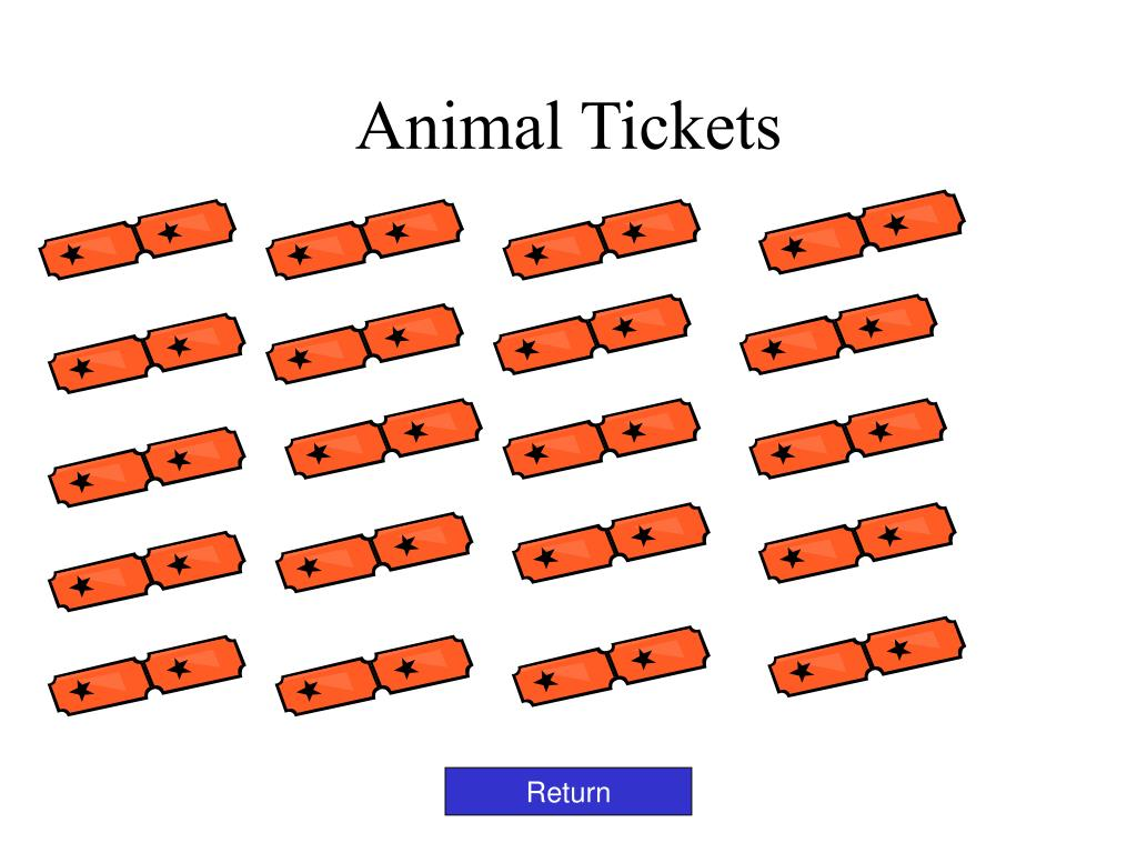 Animal Tickets