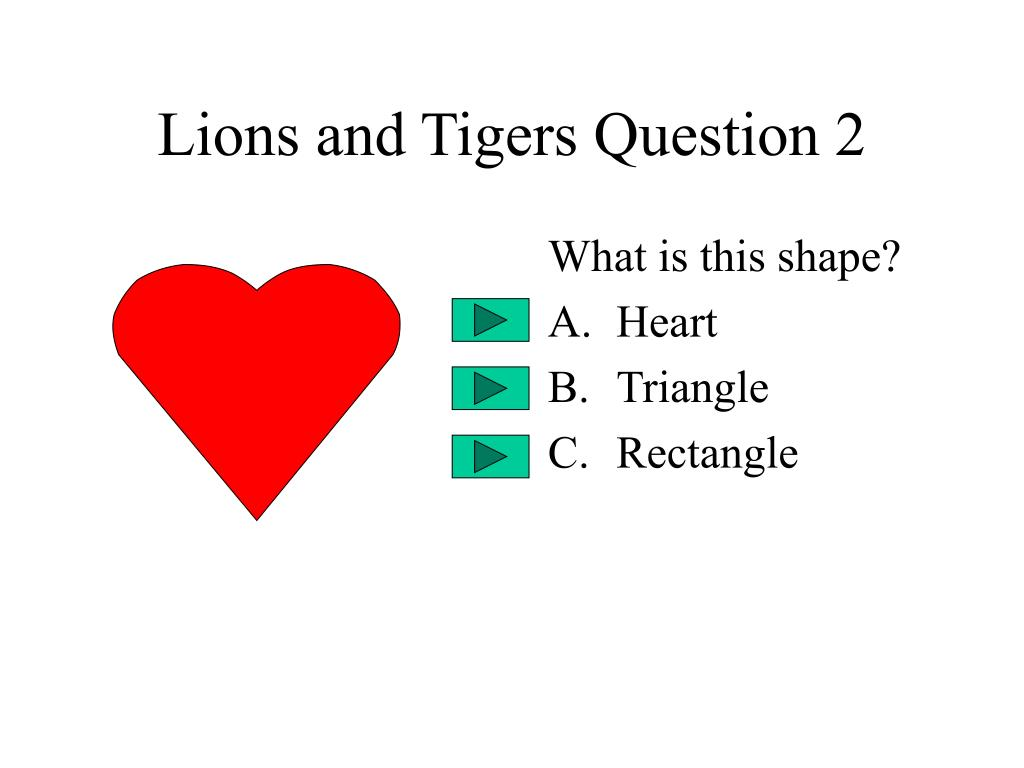 Lions and Tigers Question 2
