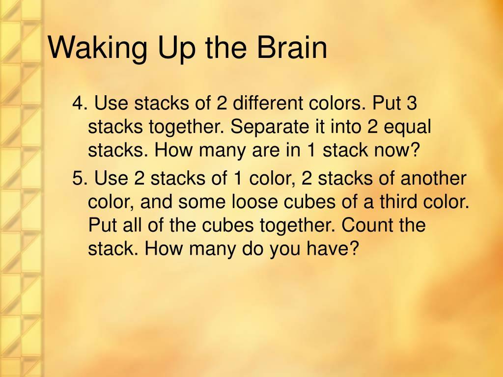 Waking Up the Brain