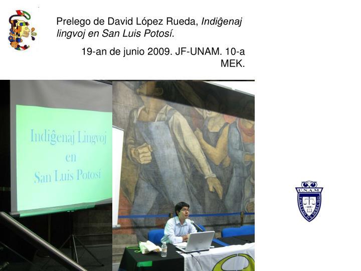 Prelego de David López Rueda,