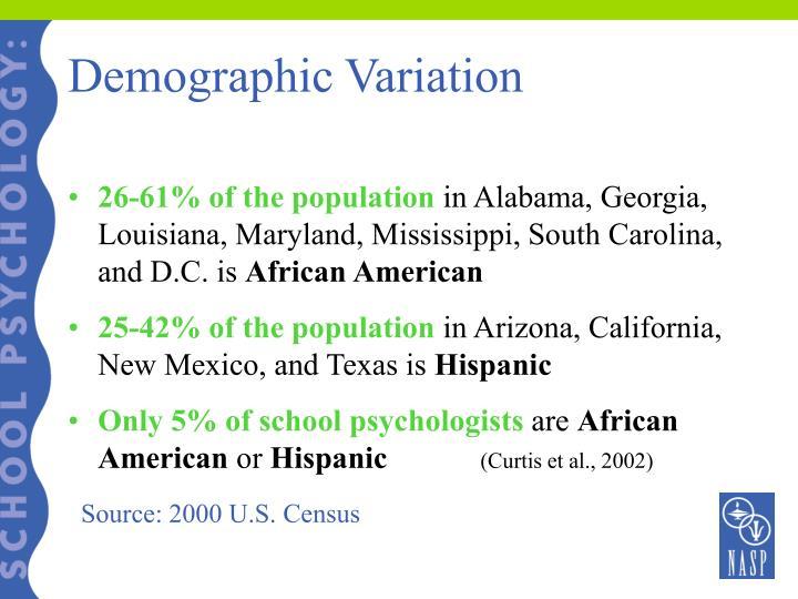 Demographic Variation