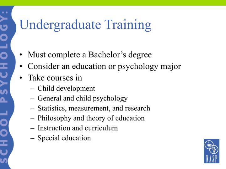 Undergraduate Training