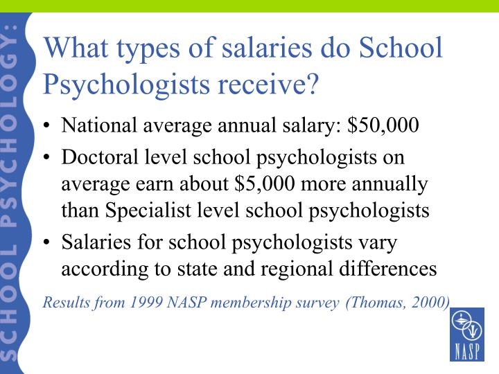 What types of salaries do School Psychologists receive?