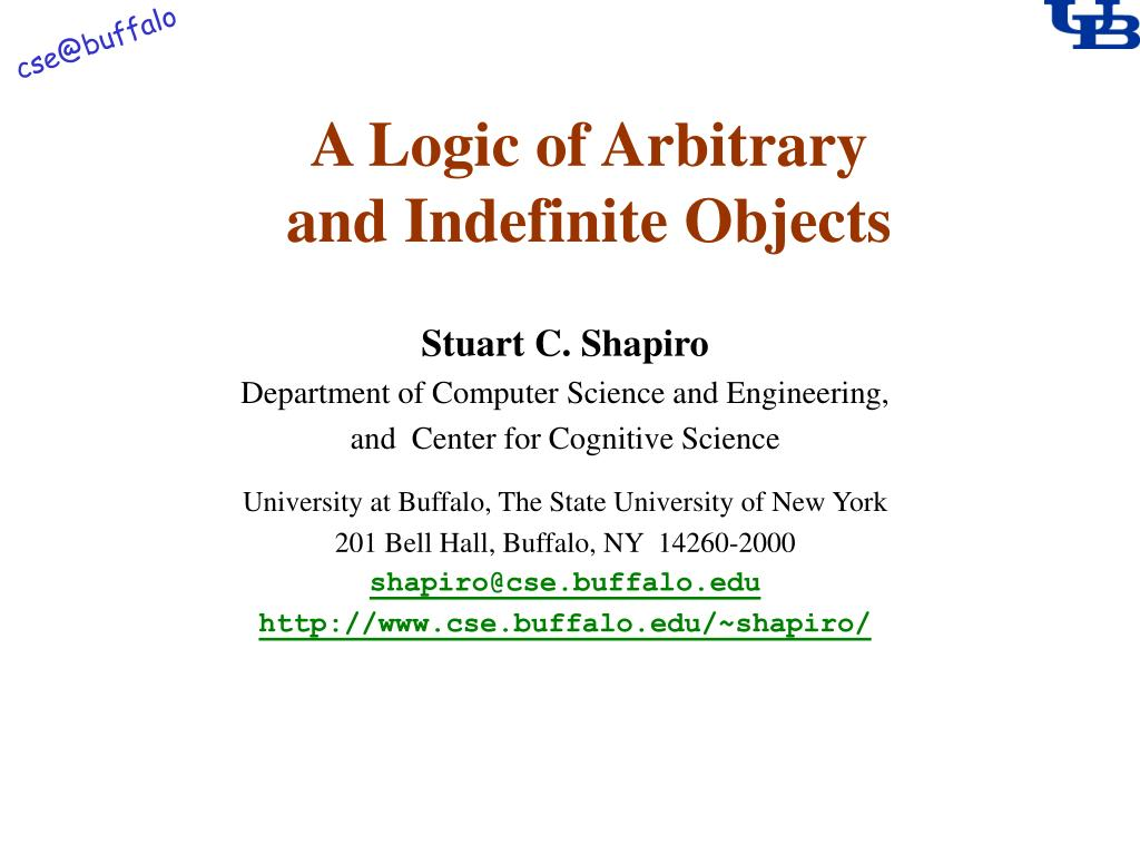 a logic of arbitrary and indefinite objects