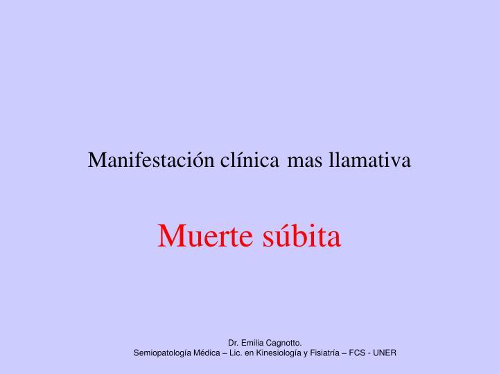Manifestación clínica