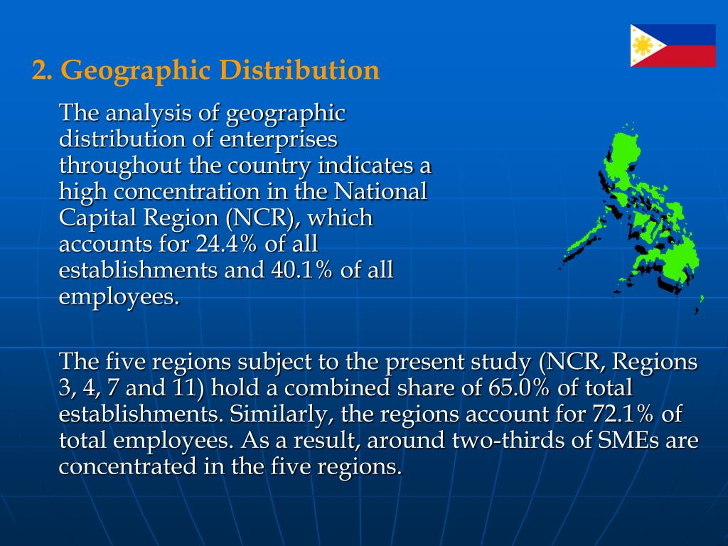 2. Geographic Distribution
