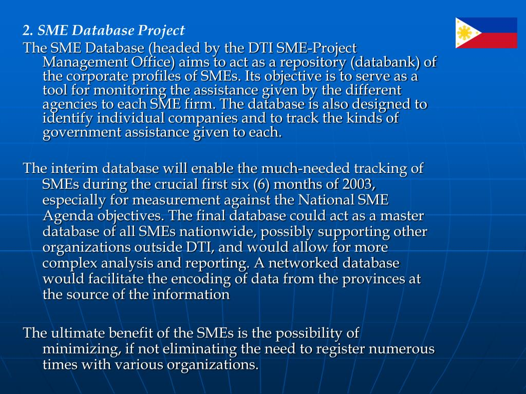2. SME Database Project