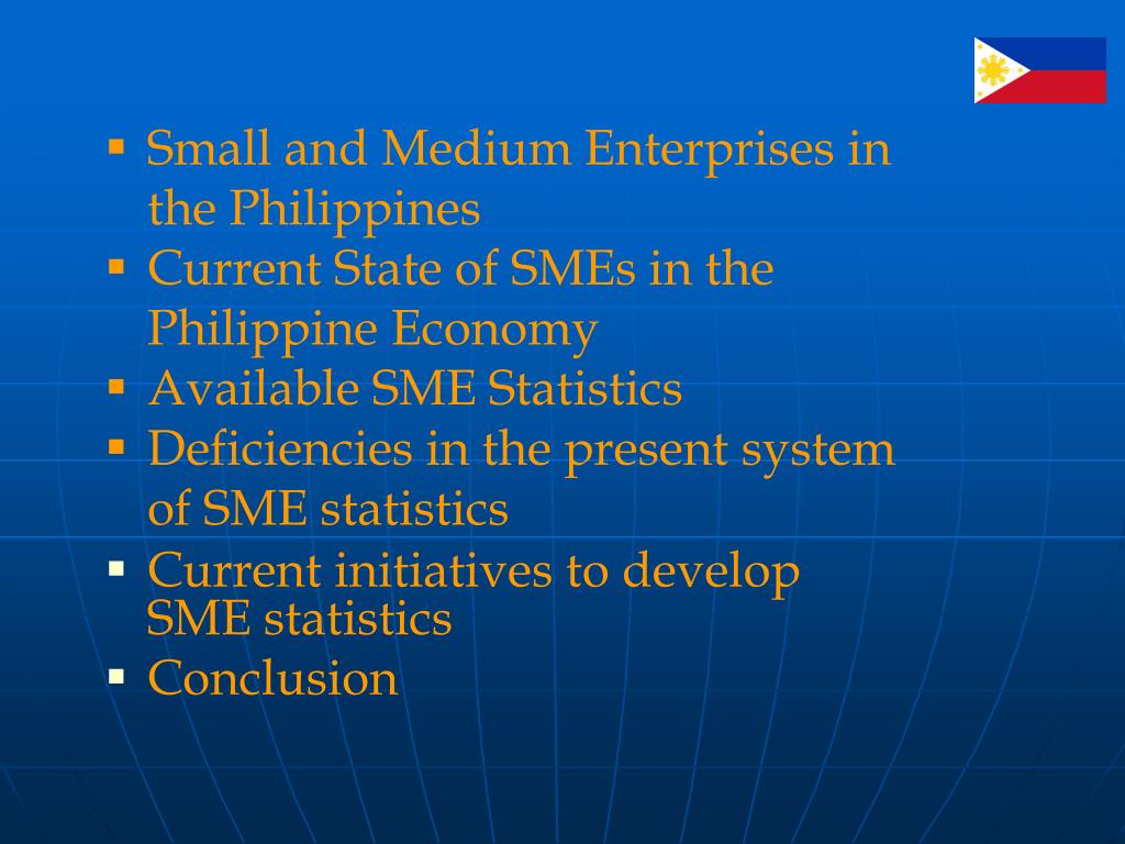 Small and Medium Enterprises in the Philippines