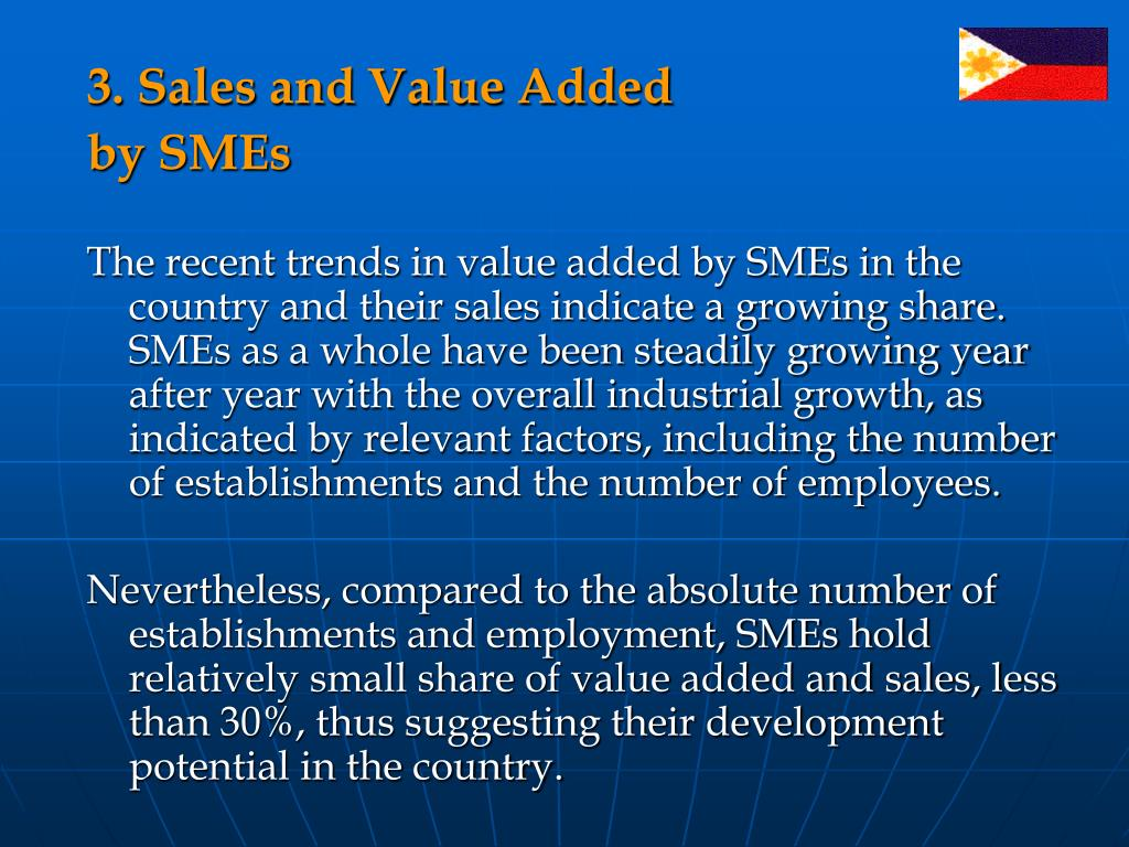 3. Sales and Value Added