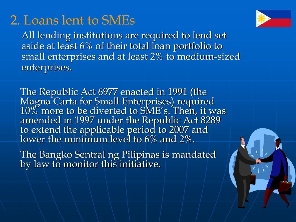 2. Loans lent to SMEs