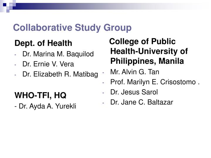 Collaborative study group