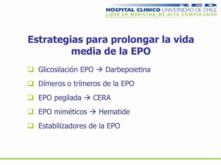 Estrategias para prolongar la vida media de la EPO