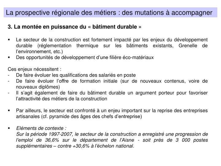 La prospective régionale des métiers : des mutations à accompagner