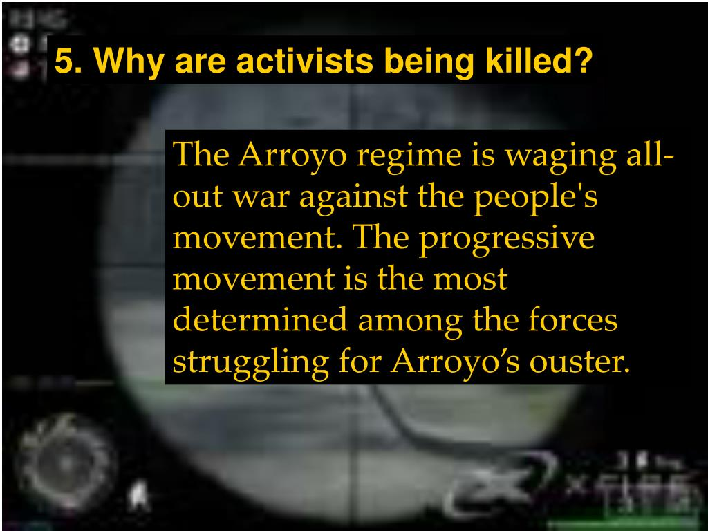 5. Why are activists being killed?