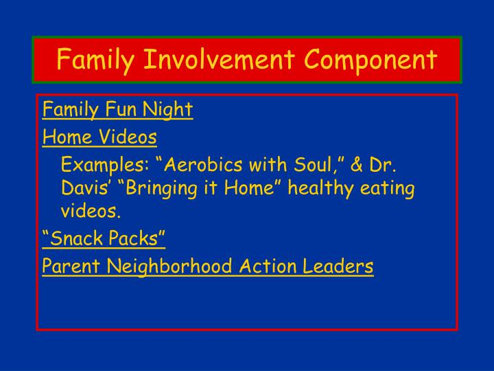 Family Involvement Component