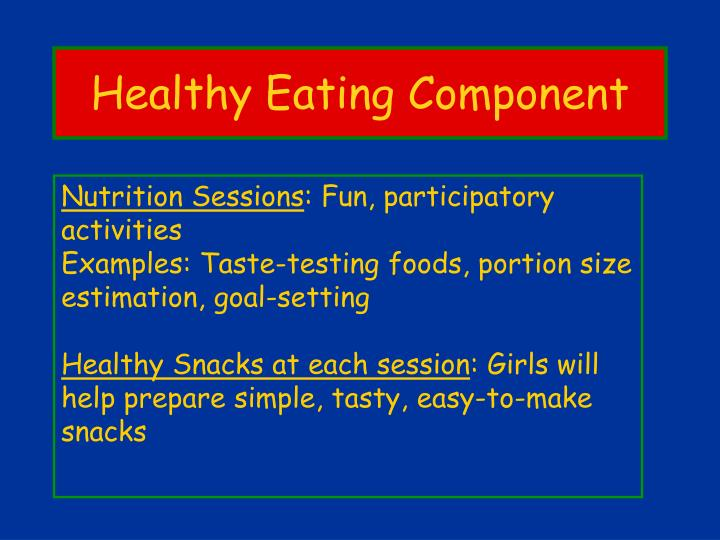 Healthy Eating Component