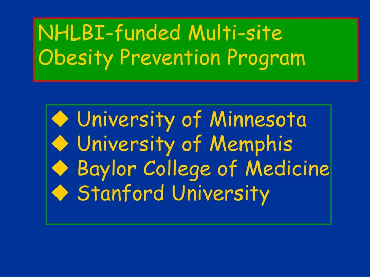 NHLBI-funded Multi-site