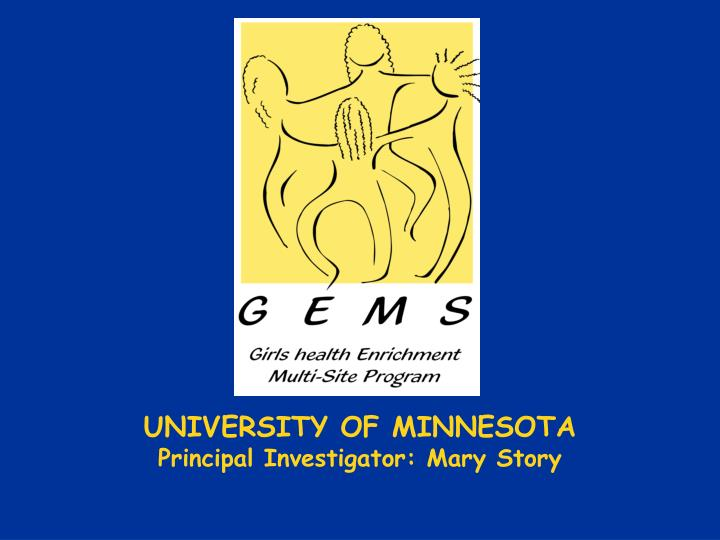 University of minnesota principal investigator mary story