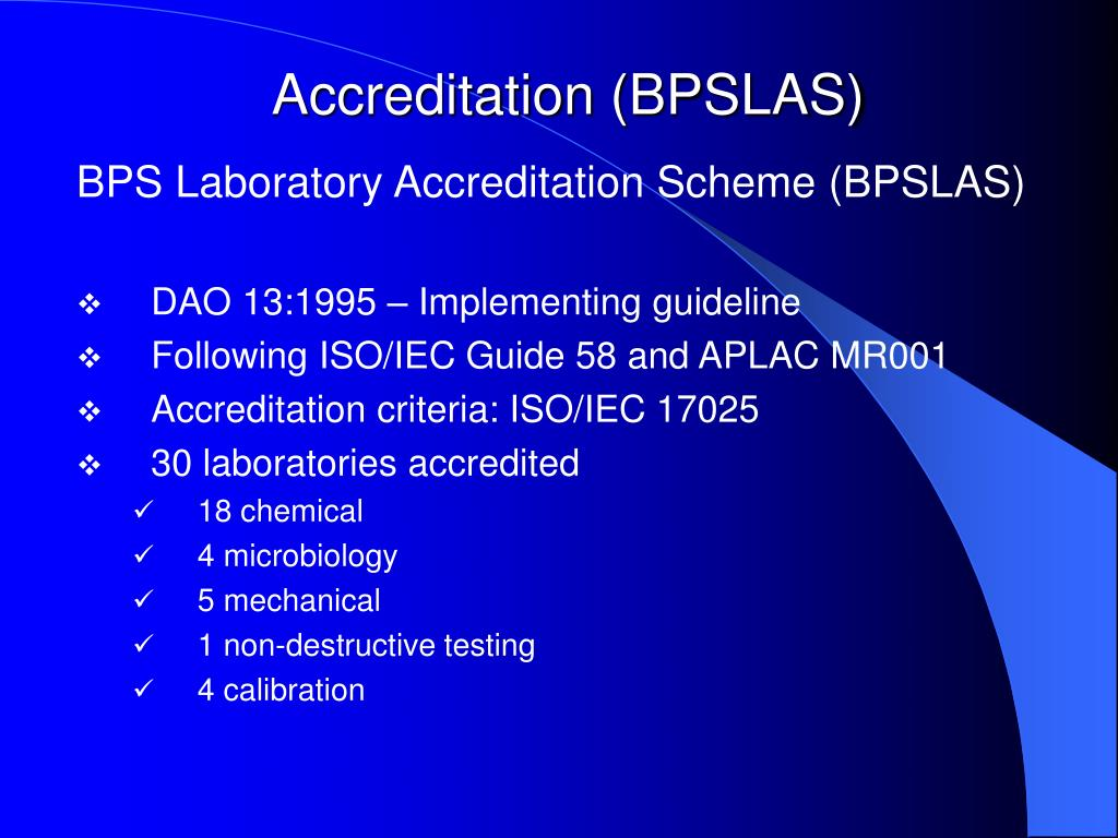 Accreditation (BPSLAS)