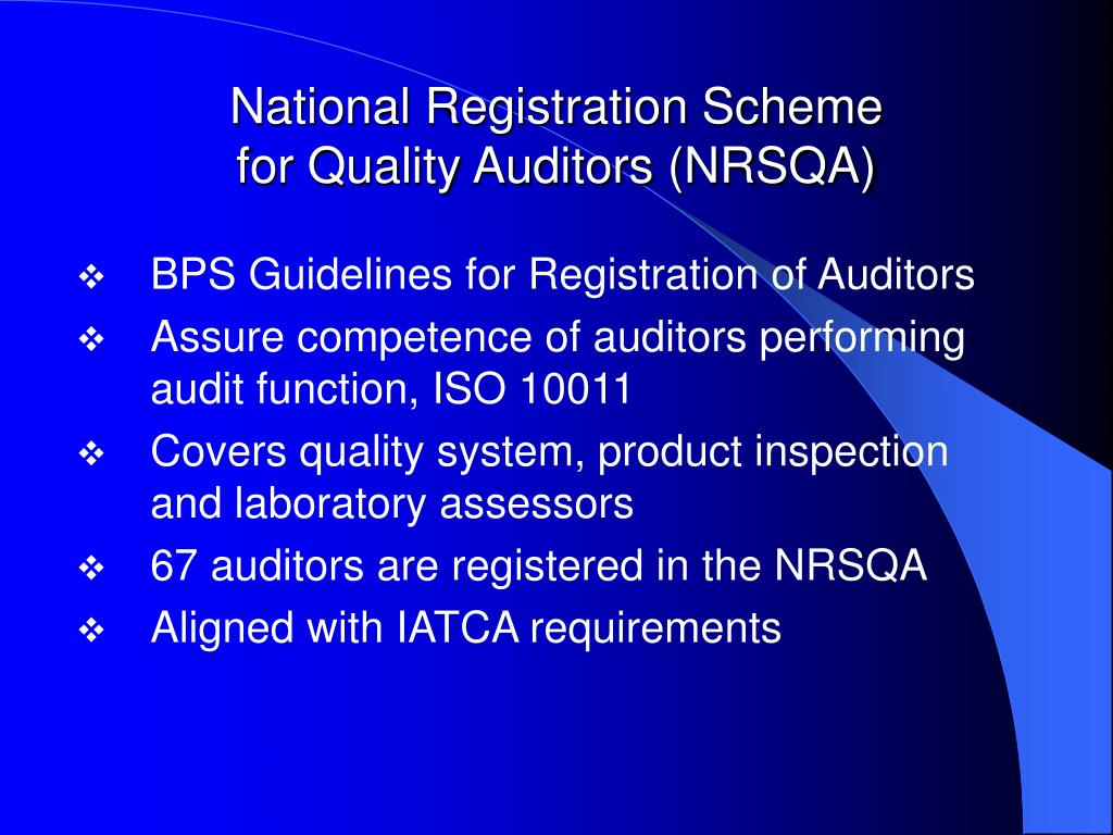 National Registration Scheme