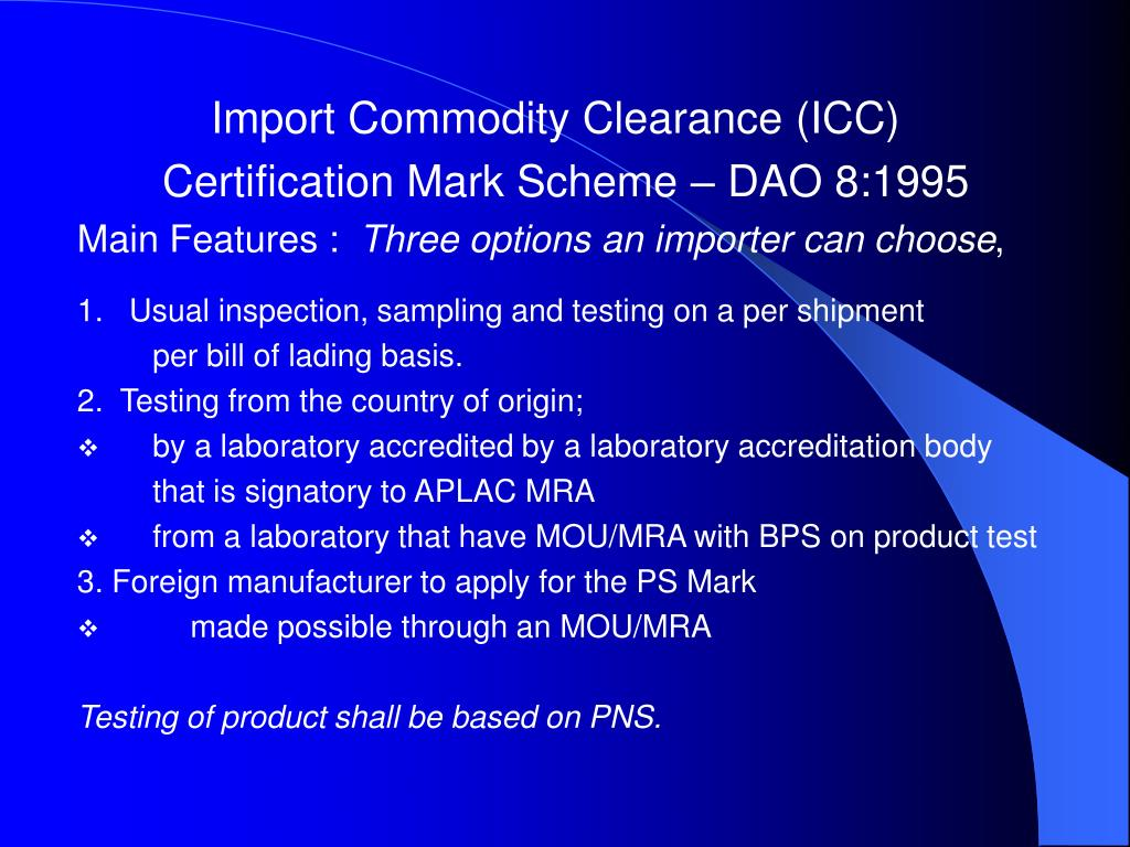 Import Commodity Clearance (ICC)