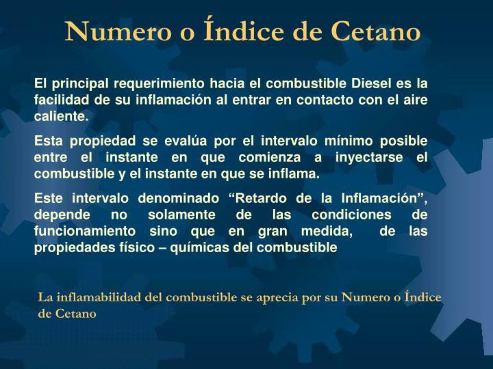 Numero o Índice de Cetano