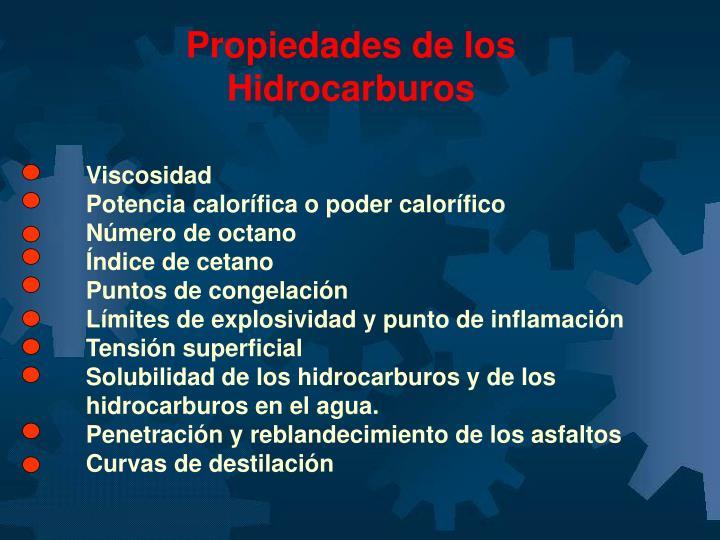 Propiedades de los Hidrocarburos