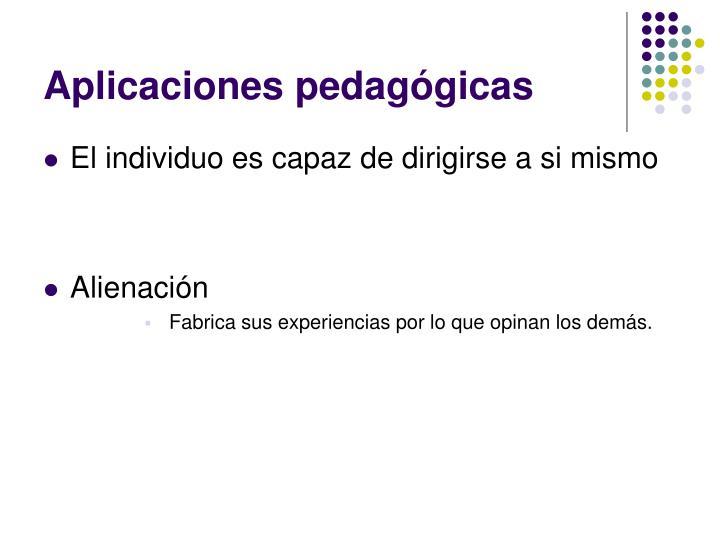 Aplicaciones pedagógicas