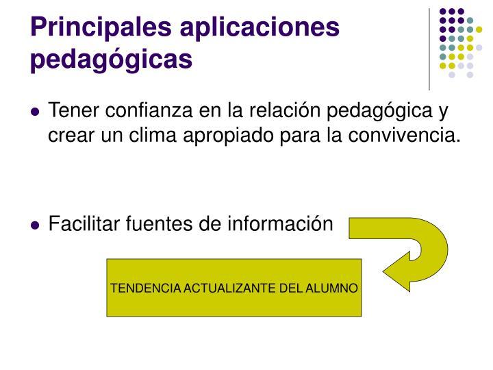 Principales aplicaciones pedagógicas