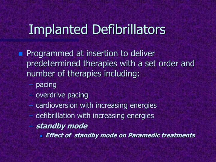 Implanted Defibrillators