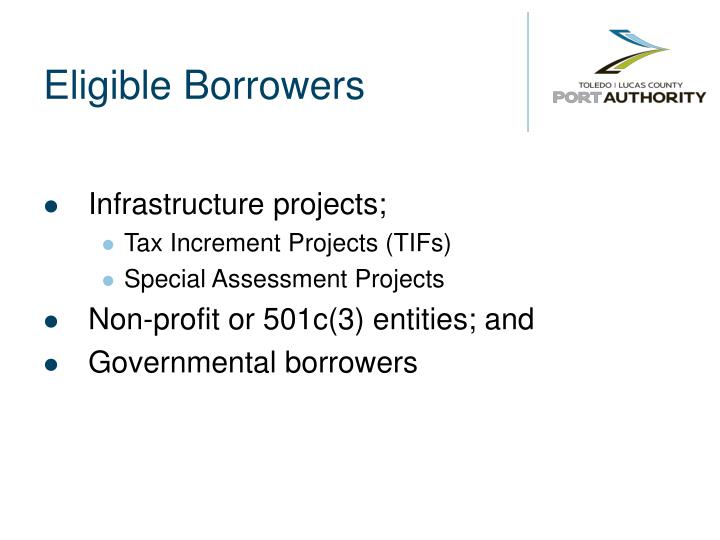 Eligible Borrowers