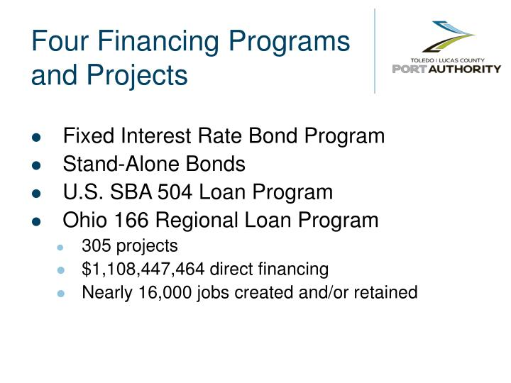 Four Financing Programs