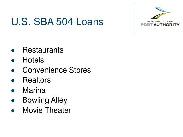 U.S. SBA 504 Loans