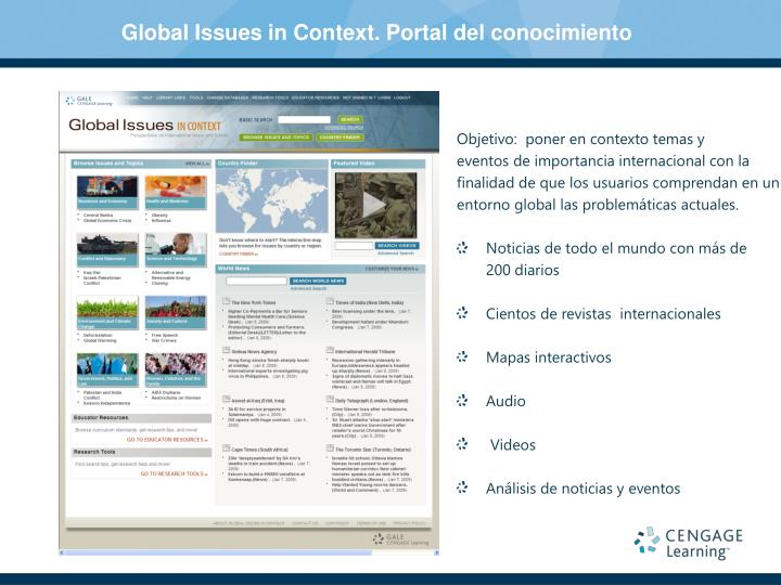 Global Issues in Context. Portal del